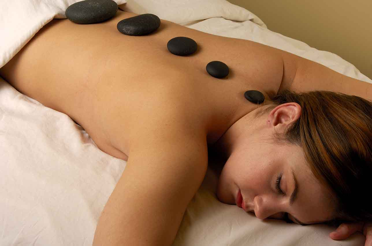 spa salon massage hot mineral stone treatment